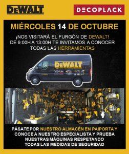 Pásate port nuestro almacén de Paiporta y conoce y prueba nuestras máquinas Dewalt.